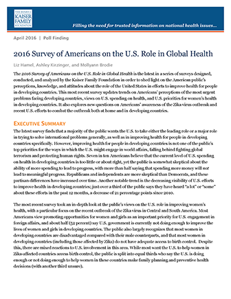 2016 Survey of Americans on the U.S. Role in Global Health